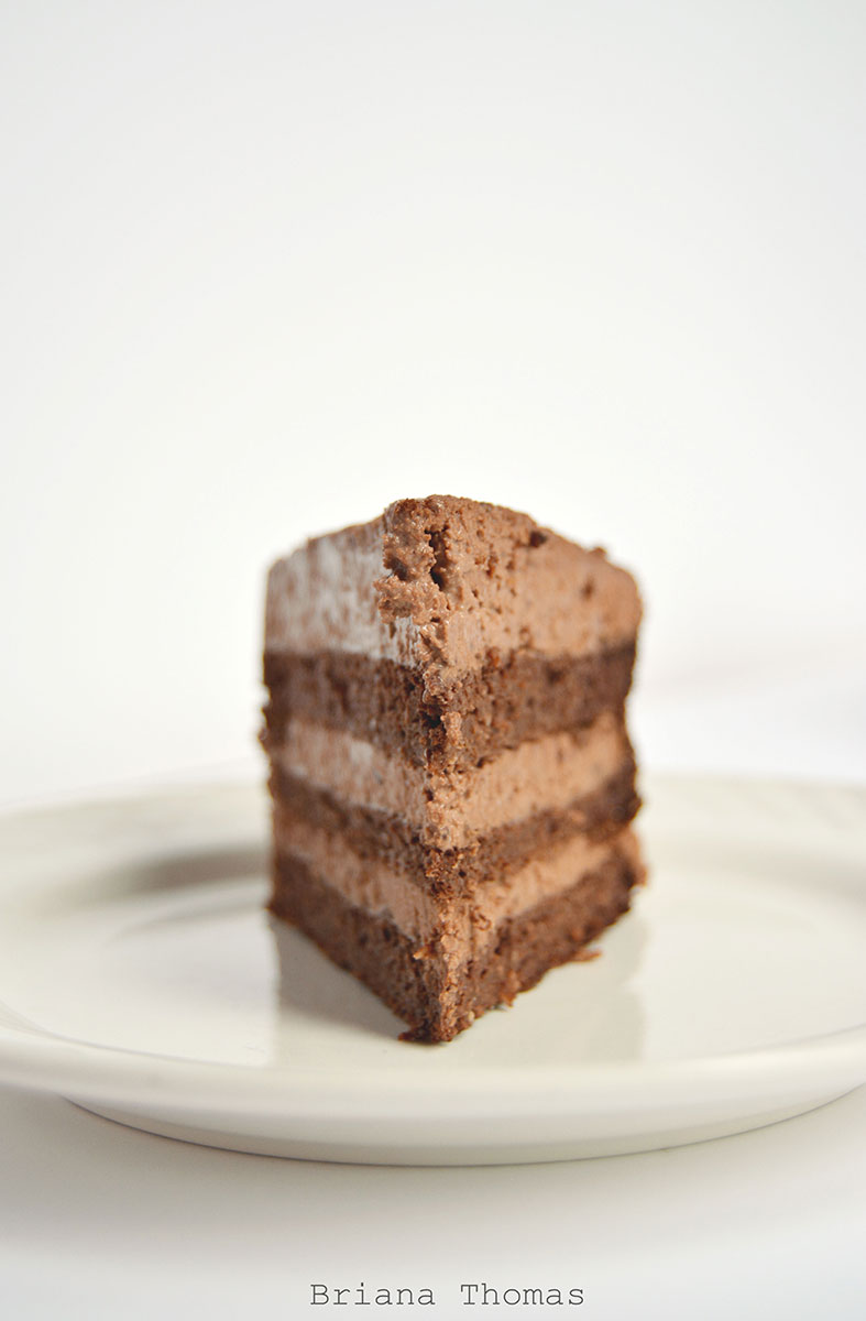 Fudgy Chocolate Layer Cake - Briana Thomas