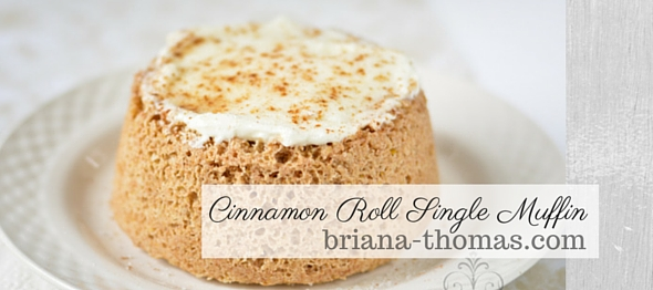 Cinnamon Roll Single Muffin - Briana Thomas