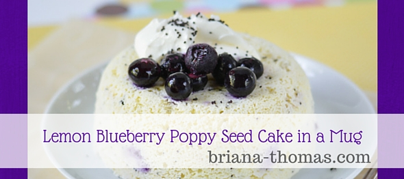 Blueberry Poppy Seed Lemon Cake in a Bowl - Briana Thomas