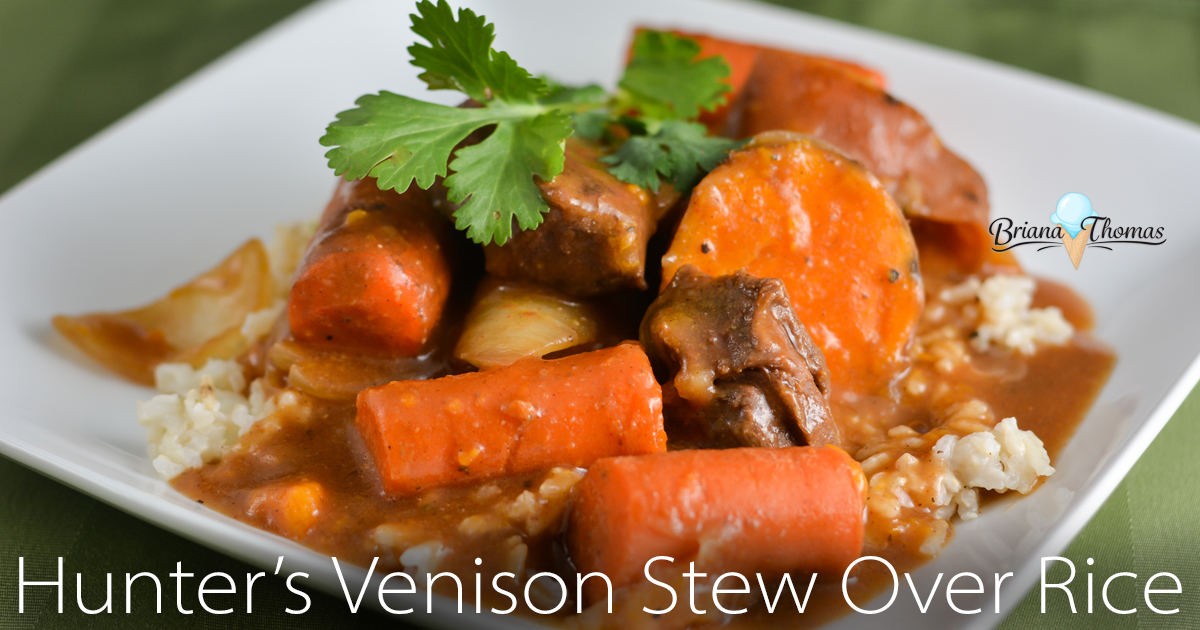 Hunter's Venison Stew Over Rice - budget friendly and made in the ...